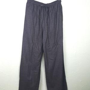 ESKANDAR Wool Wide Leg Pants Elastic Drawstring